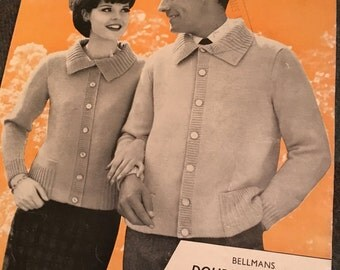 Vintage 1960s Unisex Knitting Pattern-Knitted Jacket- GC