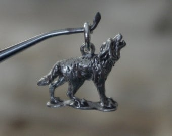 Wolf Charm , Pendant , Handcrafted