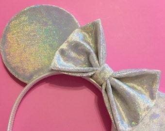 Holographic Shine Velvet Mouse Ears