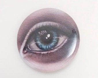 Small Pinback Button - Eye - Blue