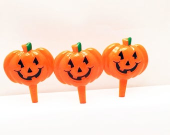 12 Halloween Pumpkin Cupcake Picks Jackolantern Toppers Party Favors