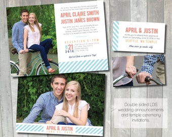 printable wedding announcement lds mormon wedding invitation temple wedding lds wedding invitations