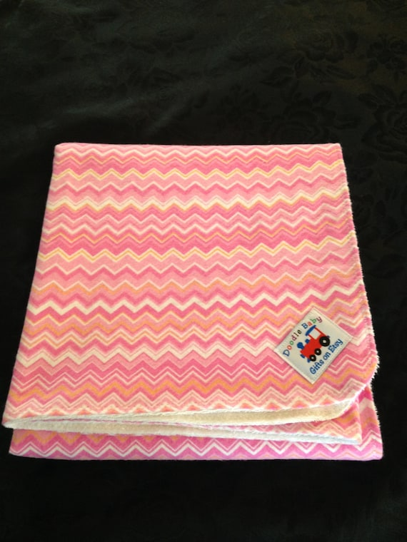 Tweens/Teens/Any age, Waterproof Bed Pads - Pink, White, Yellow Chevron pattern