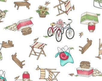 Roam Sweet Home Picnic 8222-W by Maywood Studio Cotton Fabric Yardage