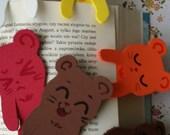 plush foam bookmarks mouse hamster colourful funny faces manga kawaii