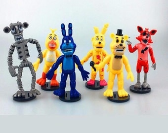"""Five Nights At Freddy's PVC Action Figures 6 pc Set 4"""" Birthday Cake Topper"""