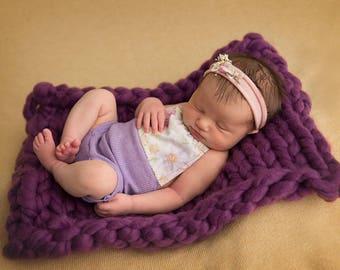 Layering Blanket--Knit Bump Blanket--Newborn Photo Prop