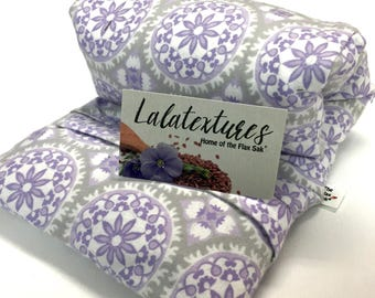 Microwave Flax HEATING PAD, Hot Cold Pack, Removable / Washable Flannel cover, Christmas gift ideas, Pain relief, aromatherapy, Fibromyalgia