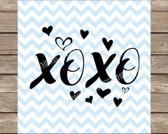 Xoxo hugs and kisses valentines day svg Valentine's svg Valentine svg Heart svg love svg cut files cricut silhouette cameo heat transfers