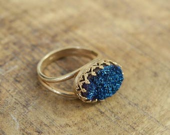 Big Stone Ring, Gold Ring, Unique Rings, Womens Rings, Fashion Jewelry, Beautiful Jewelry, Vintage Jewelry, Gifts For Mom, Classic Jewelry