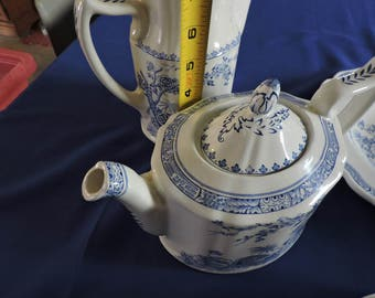 Furnivals Blue Quail Teapot Made in England