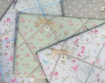 Lilymae Designs Fabric 40 x 60cm Handmade Memo Board - Notice Board - Kitchen - Office - Bedroom - Made in England
