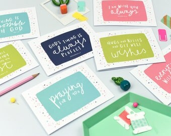 Dotty Encouragement Cards - Christian Cards - Pack of 6 Cards - Friendship Cards - Biblical Cards - A6 Cards