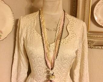Vintage Inspired Altered Necklace