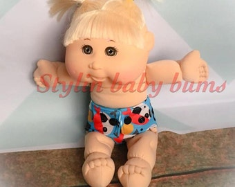 Set of 3 baby doll cloth diapers- made to order- FREE SHIPPING