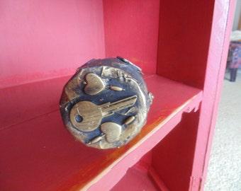 Steampunk Jars, Hearts, keys, flower, Charm, Valentines,
