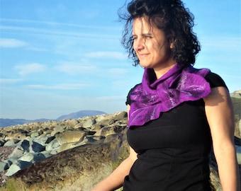 Atlantic Collection : Purple Felt Ruffle Collar