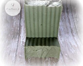 Eucalyptus Mint Goat Milk Soap- All Natural Soap - Goat Milk Soap-Naturally Colored Clay Soap- Handmade Soap-Handcrafted Soap