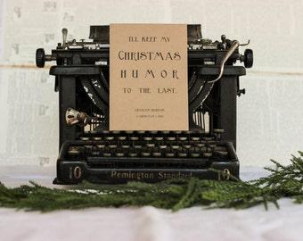 Christmas Humor to the Last: A Christmas Carol Card