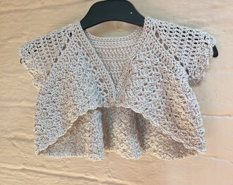 Bridesmaid Bolero. Crochet Toddler Bolero