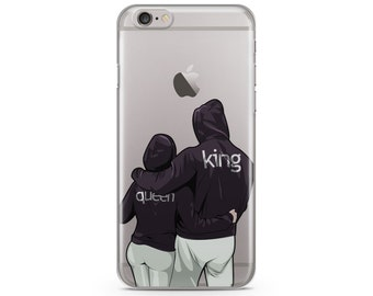Queen and King  iPhone 6s case, Hand Drawn dog iPhone Case, iPhone 7 case, iPhone 7 plus case