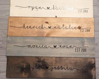 Wood sign, romantic wood sign, newly weds, wedding gift, house warming, custom wood sign,