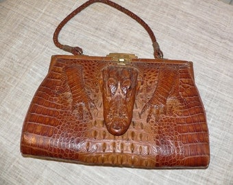 1930's Vintage Baby Alligator Purse