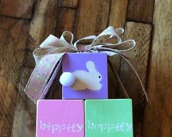 Hippity Hoppity Easter Wood Blocks/ Easter Decor