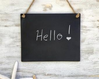 Rustic Chalkboard Kitchen Chalkboard Office Message Board Hanging Chalkboard Wedding Chalkboard Sign Reusable Horizontal 8 x 10