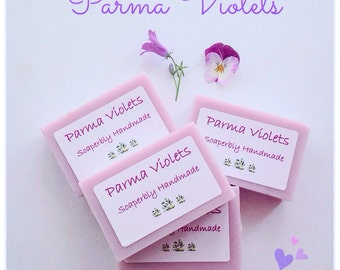 Handmade soap, Parma Violets soap, Moisturising, SLS and Paraben free