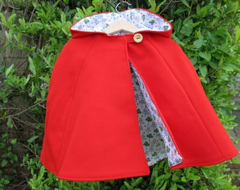 Little Red Riding Hood Wool Cape