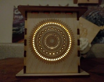 laser cut lamp- mandala sun lantern