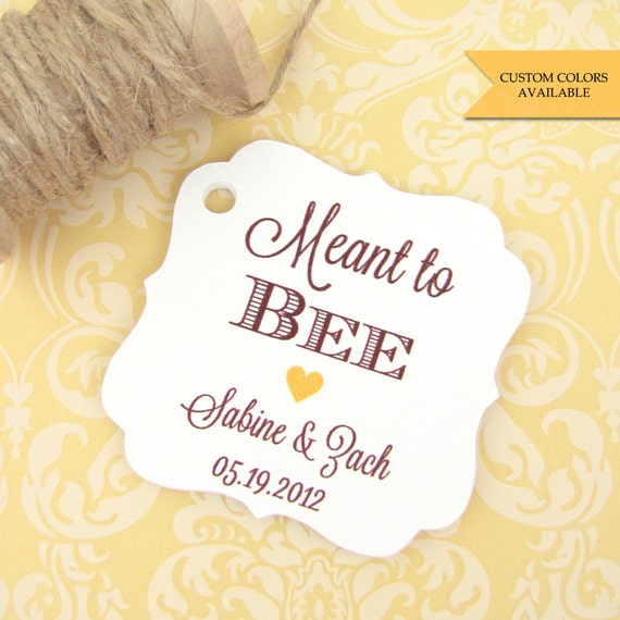 Wedding Favor Honey Tags : to bee tags (30)Honey favor tagsWedding favor tagWedding tags ...