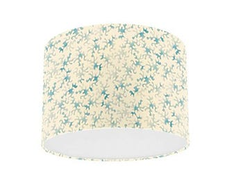 Coral lamp shade etsy uk emma bridgewater prints by sanderson duck egg coral drum lamp shade mozeypictures Choice Image