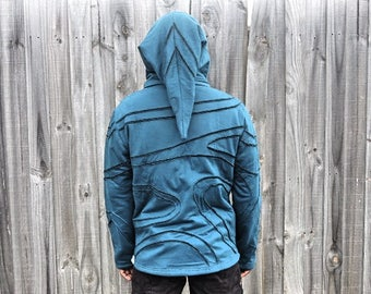 Psychedelic Hoodie,Burning man,Dmt,Psy Clothing,Zip Up Men's Hoodie,Hooded Jacket,Men Festival Hoodie,Christmas Gifts For Him.Men's Jacket.