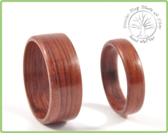 Wooden wedding bands, wood wedding bands, wedding band set, wooden ring for men, wooden wedding rings, wooden wedding band, wooden ring.