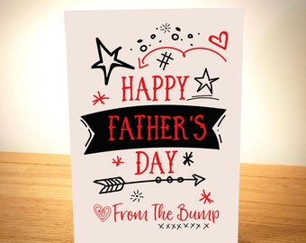 Happy Father's Day From Bump -  Father's Day Card - Designed and Printed in Yorkshire - Free Post - Cute
