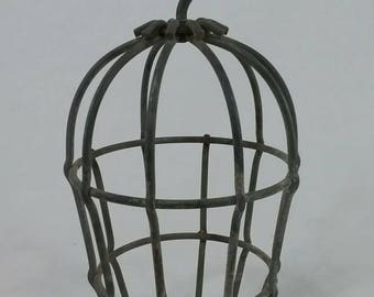 Vintage industrial drop light bulb cage steampunk decor