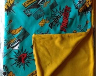Perry the Platypus / Agent P - Double Life Double Danger Fleece Blanket