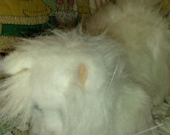 White Fur Real Kitten - 10 inches long