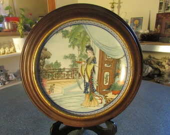 Imperial Jingdezhen Porcelain Plate Beauties of Red Mansion #5