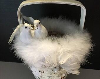 Lovebirds Flower Girl Basket