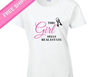 This Girl Sells Real Estate Shirt - real estate agent - realtor marketing- real estate - real estate marketing - real estate clothing
