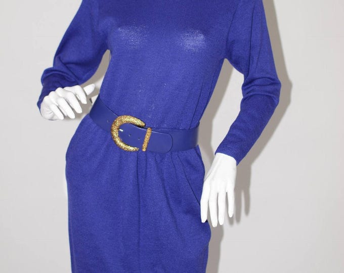 Vintage Estate St John Saks Fifth Avenue Purple NWT Dress