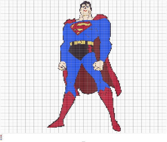 Superman Knitting Pattern : Knit Superman Intarsia Knitting Chart Superman Knitting Graph