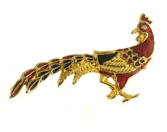 Cloisonne Rooster Pin