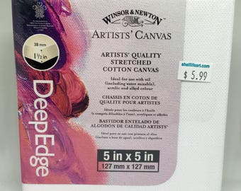 """Winsor & Newton Artists' Quality Stretched Cotton Canvas DeepEdge 5""""x5"""""""