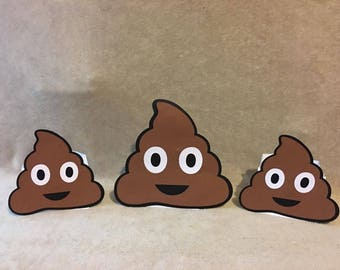 Poop Emoji balloon Centerpieces. Great for baby showers or birthday parties. Free Shipping