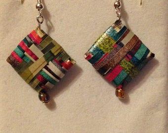 Paper Bead Earrings - Various designs