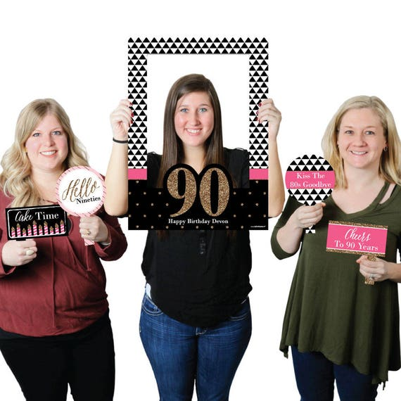 90th Birthday - Personalized Birthday Selfie Photo Booth Picture ...